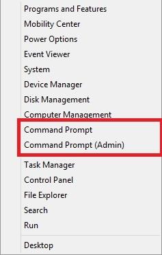 اضافه کردن Command Prompt به منوی Power User در ویندوز 8.1
