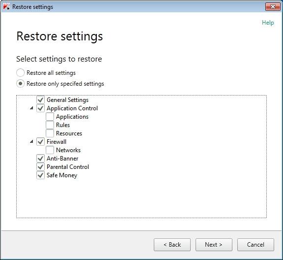 بازگردانی تنظیمات نرمافزارهای امنیتی Kaspersky به حالت اولیه