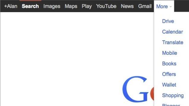 بازگردانی نوار سیاه رنگ موتور جستجوی گوگل