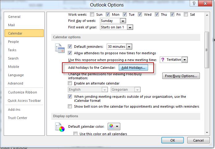 اضافه کردن مناسبتهای مذهبی اسلامی به تقویم Microsoft Outlook 2013