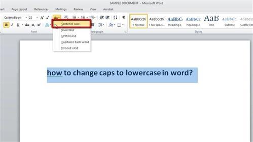 تغییر حروف کوچک به بزرگ و بالعکس در Word به صورت سریع