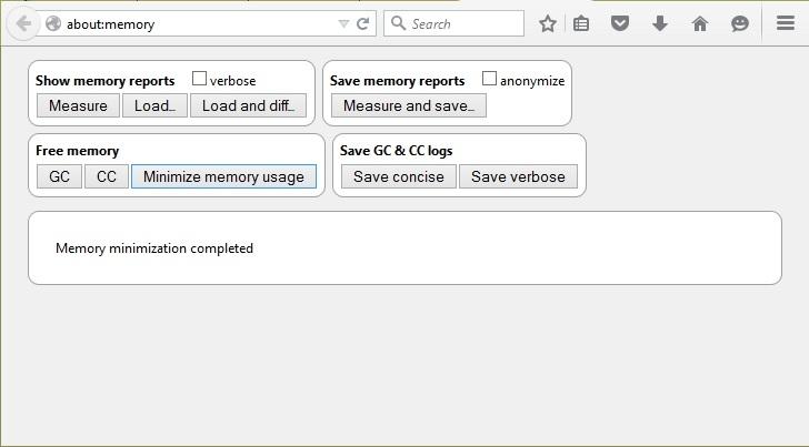 کاهش میزان استفادهی فایرفاکس از حافظه با یک کلیک!