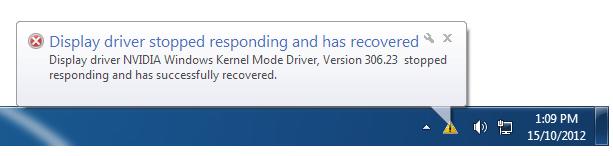 رفع ارور Display Driver Stopped Responding در کارتهای گرافیک NVIDIA