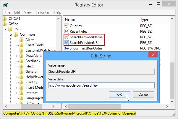 تغییر موتور جستجوی پیشفرض Microsoft Office 2013