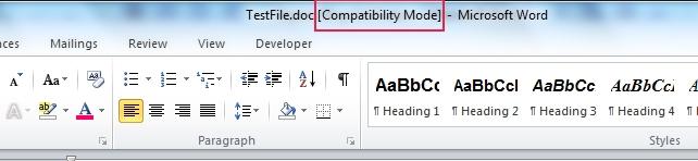 رفع مشکل درج دائمی عبارت Compatibility Mode در Word