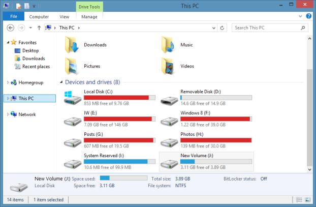 مشاهده ی جزئیات فایلها در پایین محیط Explorer ویندوز 8
