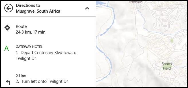 نمایش فواصل بر مبنای کیلومتر در اپلیکیشن Maps ویندوز 8