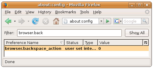 نحوهی ویرایش عملکرد و یا غیرفعال کردن دکمهی Backspace در مرورگر فایرفاکس