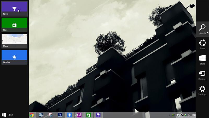 غیرفعال کردن نمایش پنلهای کناری در ویندوز 8