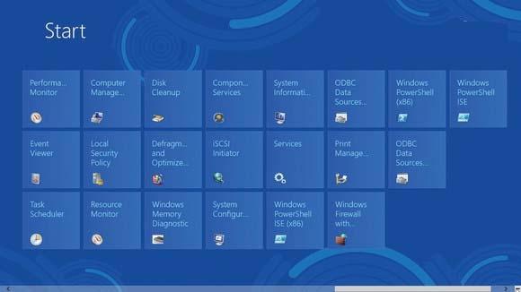 نحوه ی سنجاق کردن ابزارهای مدیریتی و بهینهساز ویندوز به صفحهی Start ویندوز 8