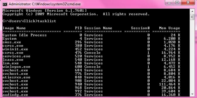 بستن پروسههای ویندوز از طریق CMD
