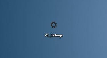 ایجاد یک میانبر در صفحهی دسکتاپ جهت دسترسی سریع به PC Settings در ویندوز 8