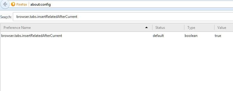 وادار کردن فایرفاکس به باز کردن تب جدید در انتهای نوار تبها