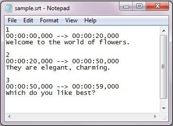ساخت و ویرایش زیرنویس به وسیلهی Notepad