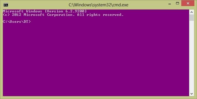 تغییر رنگ و ظاهر محیط Command Prompt ویندوز