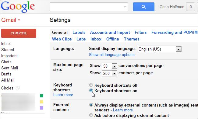 مشاهده کلیدهای میانبر در Gmail و نحوه فعالسازی و سفارشی ساختن آنها