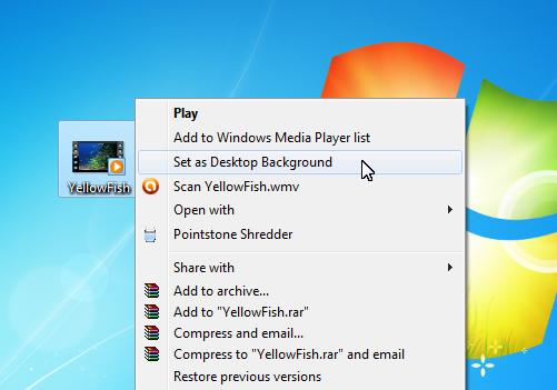 قرار دادن فایل ویدئویی به عنوان پسزمینه دسکتاپ ویندوز 7