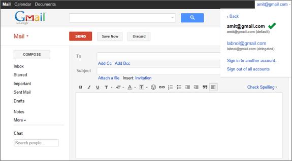 ورود به Gmail با چند حساب کاربری به صورت همزمان
