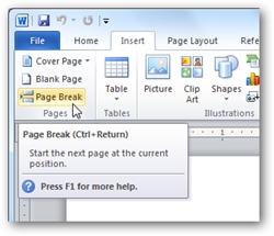 نحوه ایجاد صفحه جدید در Word به صورت صحیح