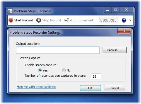 ضبطکننده قدمبهقدم مشکلات در ویندوز 7