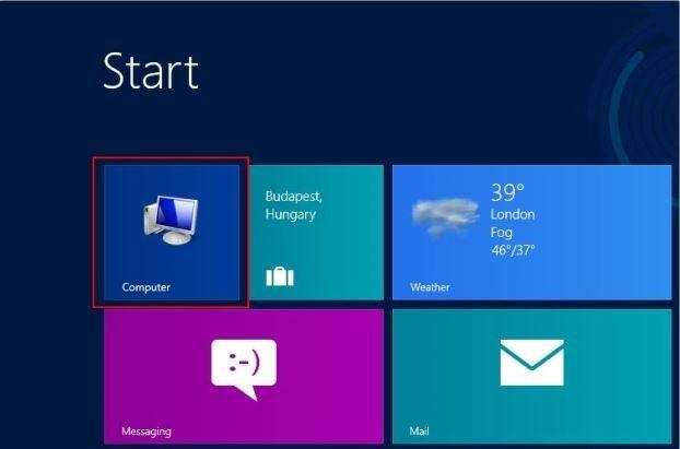 نحوه افزودن آیکن Computer به صفحه Start و Desktop ویندوز 8