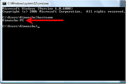 نحوه پی بردن به نام کامپیوتر از طریق CMD