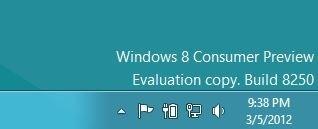 از بین بردن واترمارک موجود در دسکتاپ در نسخهی پیشنمایش «ویندوز 8»