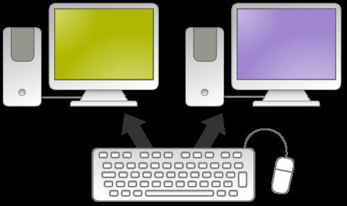 به اشتراکگذاری ماوس و کیبورد در میان کامپیوترهای تحت شبکه