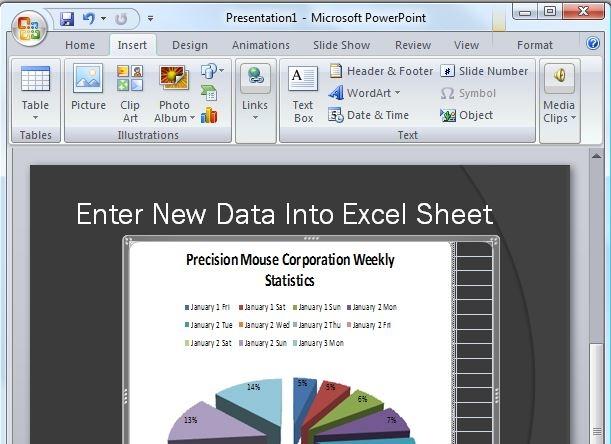 جاسازی یک صفحهی Excel در درون PowerPoint یا Word