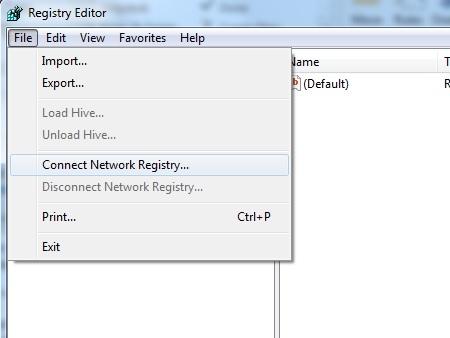 ویرایش رجیستری در سیستمهای تحت شبکه