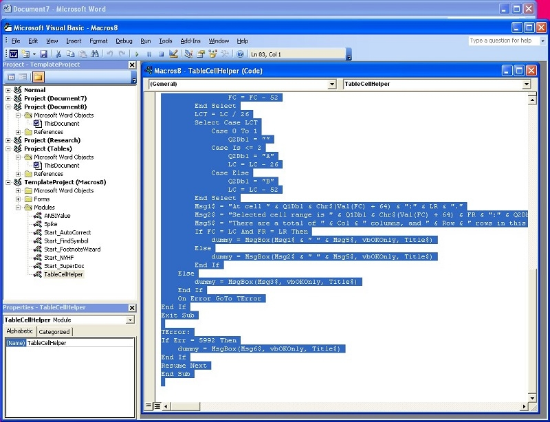 اجرای Visual Basic در درون Microsoft Word