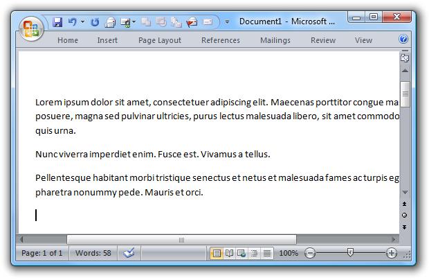 تولید متن نمونه در Word