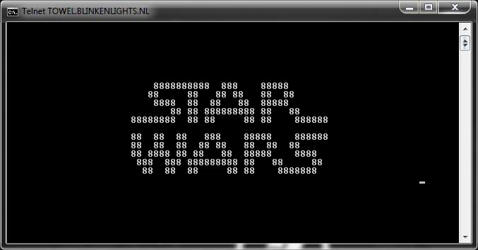 دیدن فیلم جنگ ستارگان با اینترنت ذغالی در ویندوز XP