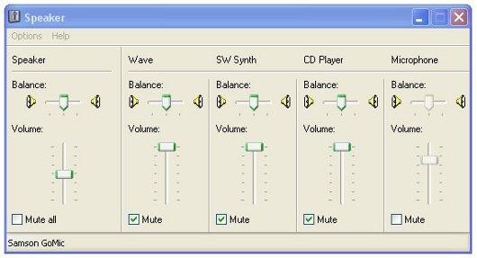 یک ترفند کوچک در Volume Control ویندوز XP