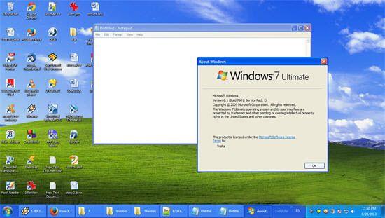 نحوهی تغییر قالب ویندوز XP