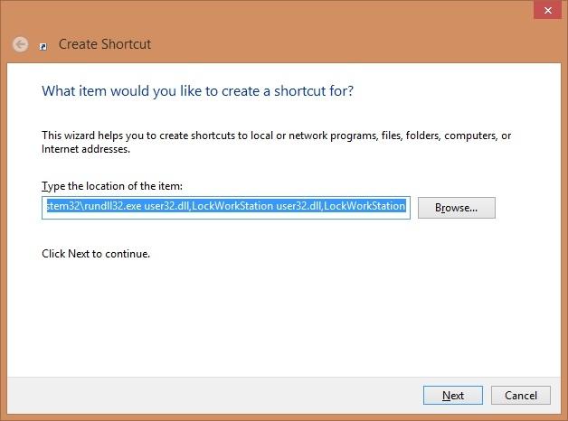 قفل نمودن کامپیوتر به وسیلهی یک Shortcut