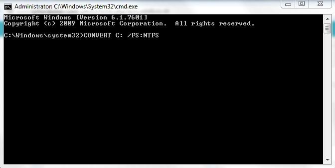 تبدیل FAT32 به NTFS