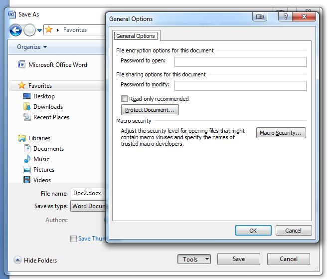قرار دادن رمز عبور بر روی فایلهای آفیس