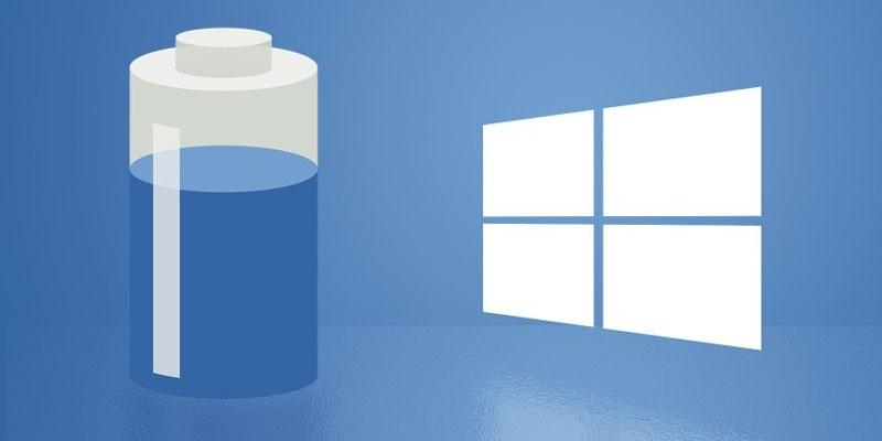 کاهش میزان مصرف باتری لپ تاپ و تبلت در ویندوز 10