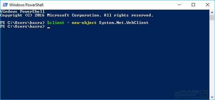 دانلود فایل از طریق دستورات PowerShell ویندوز 1