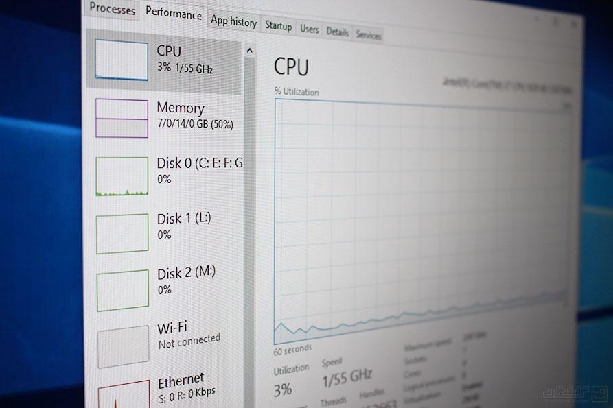 کاهش مصرف CPU در ویندوز 10