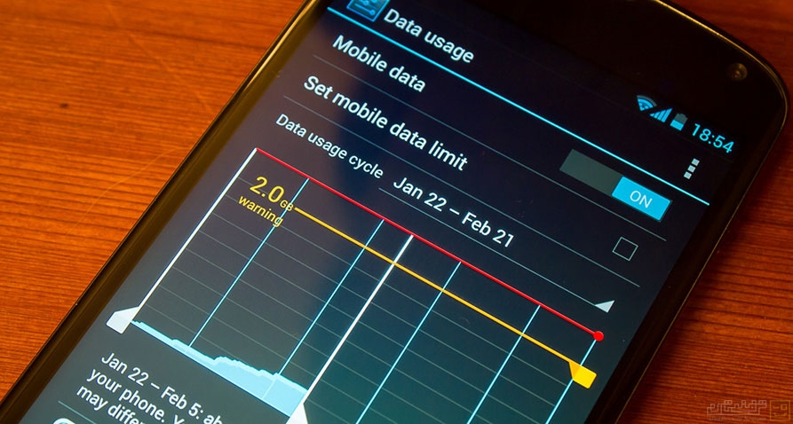 10 راه برای کاهش مصرف اینترنت داده تلفن همراه در اندروید