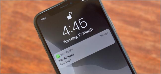 آموزش تصویری غیرفعال کردن پیشنمایش اعلان WhatsApp در iPhone