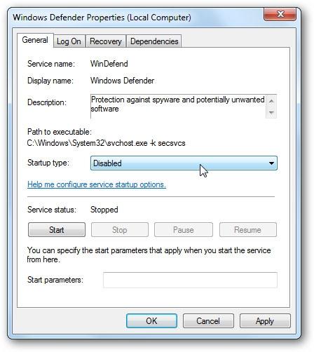 نحوهی غیرفعالسازی و حذف Windows Defender در محیط ویندوز