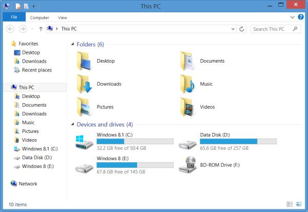 جدا کردن Driveها و Deviceها در This PC ویندوز 8.1