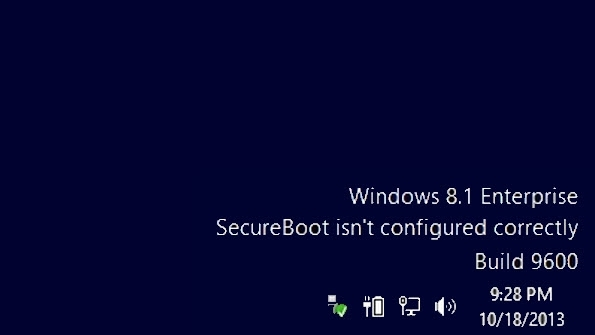 رفع مشکل درج پیام SecureBoot isn`t configured correctly در دسکتاپ ویندوز 8.1