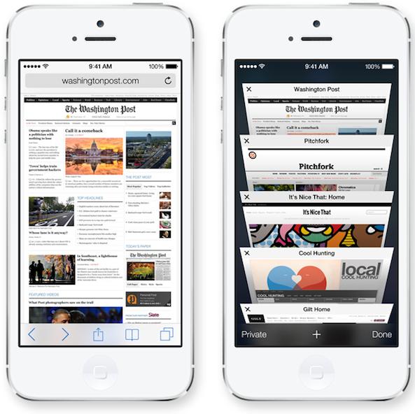 سه قابلیت جدید Safari در iOS 7