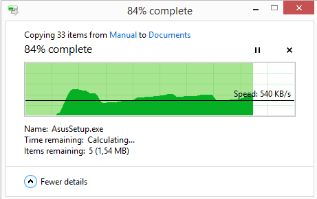 نمایش جزئیات کامل در هنگام Copy یا Move کردن فایلها در ویندوز 8