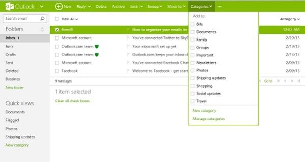 مقابله با هرزنامهنویسها در Outlook.com