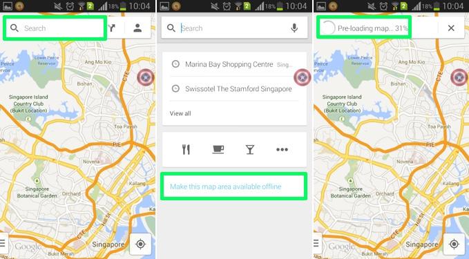 ذخیرهی نقشههای Google Maps برای استفادهی آفلاین در اندروید